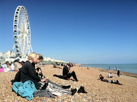 Brighton UK duringGreatEscape musicfest Passing Time / Commemorating Time (ON AN ON Takeover)