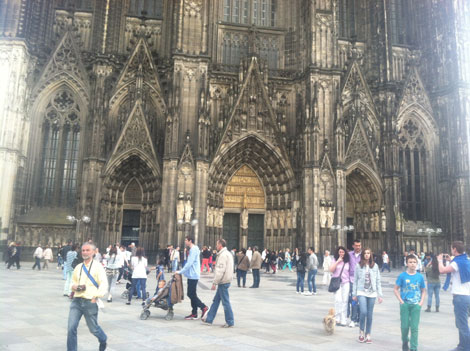 Visiting cologne cathedral germany Passing Time / Commemorating Time (ON AN ON Takeover)