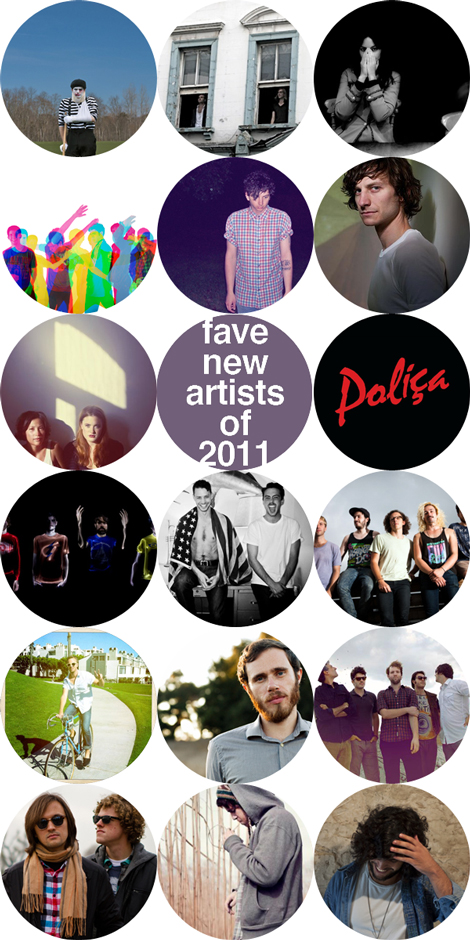 favenewartists2011 Indie Music Filter: Favourite New Artists Of 2011