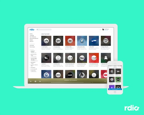 Indie Music Filter on Rdio's Curator Stations