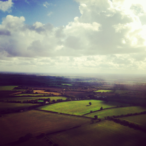 Phone pic flying into Cambridge
