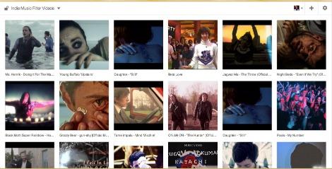 indie music filter videos