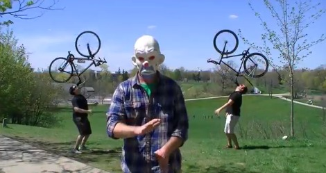 Bananas, Bikes and Funny Masks