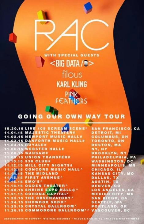 CONTEST: RAC @ Danforth Music Hall (Tues, Nov. 3rd)